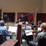 String recording session